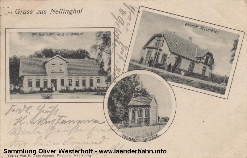 Viele gerade der kleineren Bahnhöfe an der Schusterbahn waren von ähnlichem Baustil, so auch der von Nellinghof.