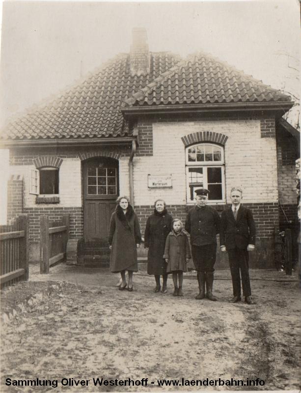 Der Haltepunkt Neuenwege auf einem Foto aus den 1950er Jahren