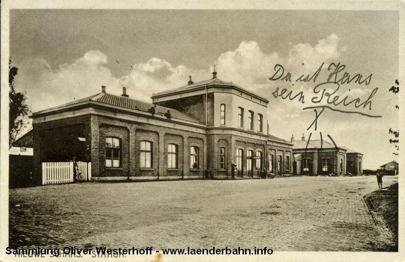 Im Bahnhof Neuschanz endete die oldenburgische Bahnstrecke.