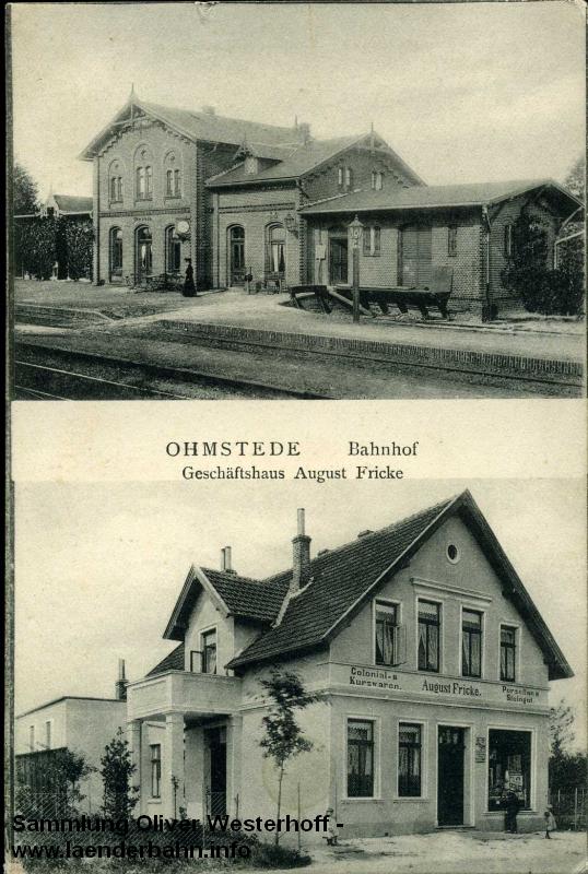 Der Bahnhof Ohmstede erinnerte an einen typisch preußischen. Ansicht um 1910.