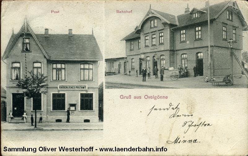 Bahnhof Ovelgönne um 1910 von der Gleisseite