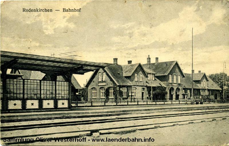 Der Bahnhof Rodenkirchen in der Wesermarsch.