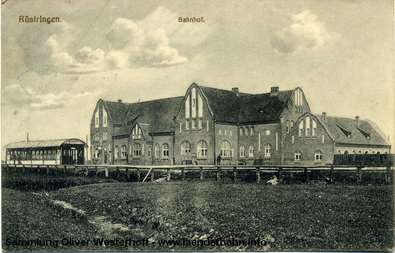 Ansicht des Bahnhofs Rüstringen (Bant) etwa 1915