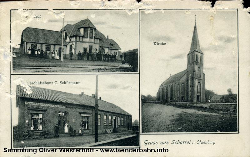 Scharrel ist der Hauptort im Saterland und besaß natürlich auch einen Bahnhof.