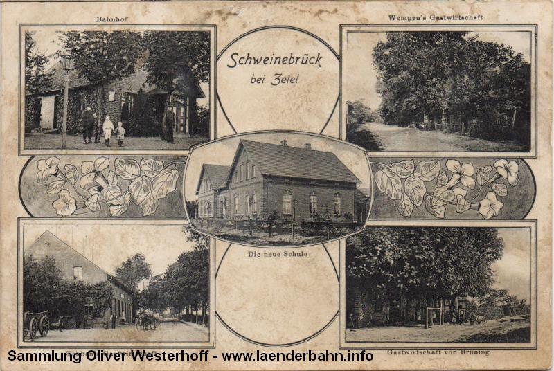 In Schweinebrück gabe es wie in einigen anderen Orten an den Vareler Nebenbahnen nur ein kleines Bahnhofsgebäude.