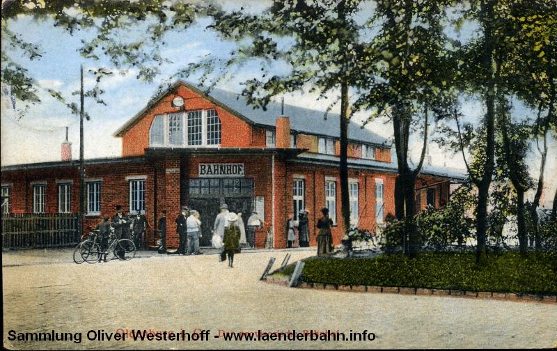Der provisorische Bahnhof Oldenburg um 1912