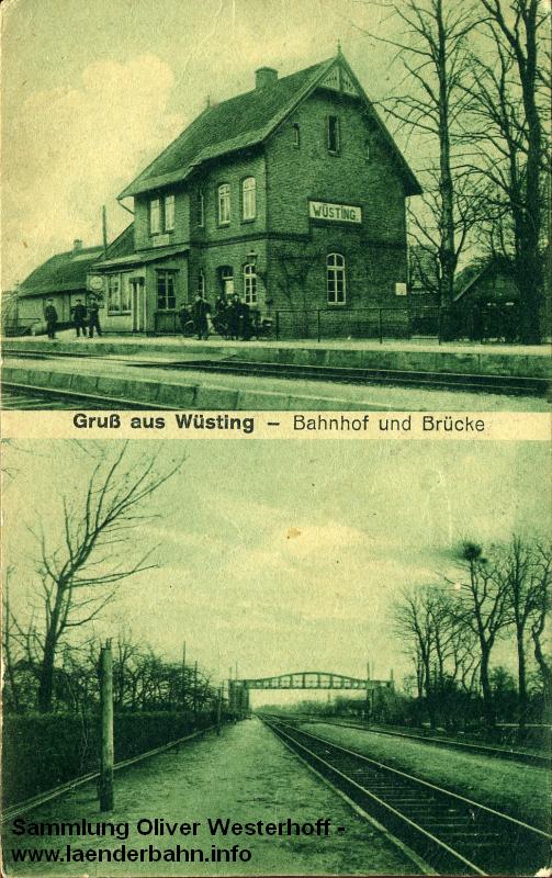 Ansichten vom Bahnhof Wüsting aus den 1920er Jahren