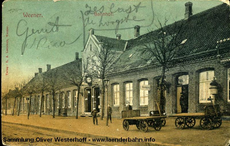 Bahnhof Weener auf einer frühen Ansicht.