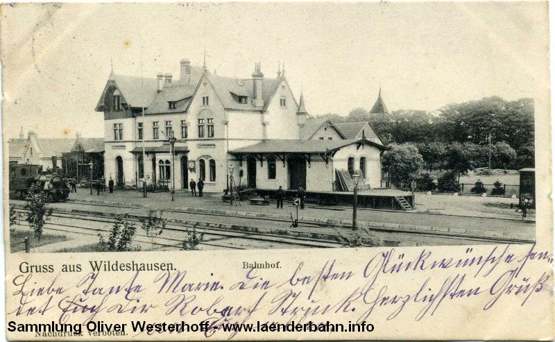 Der Bahnhof Wildeshausen an der sogenannten Schusterbahn erinnerte an Gebäude aus Thüringen.