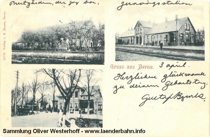 Bereits 1901 ist die folgende Karte gelaufen, auch hier der Bahnhof von der Gleisseite.