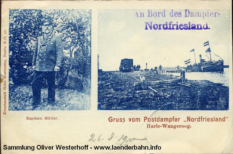 Der Anleger in Harle um 1910.