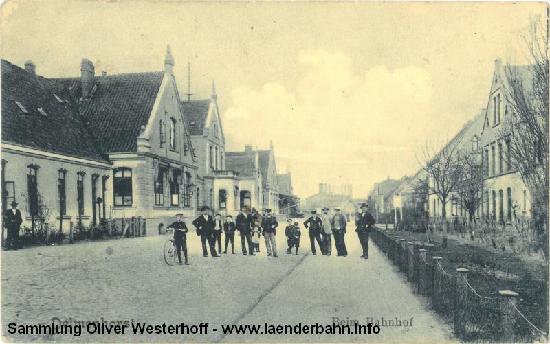 Im Jahr 1915 hat sich nicht viel verändert, in dieser Ansicht ist im Hintergrund das Gaswerk mit Gasometer zu erkennen.