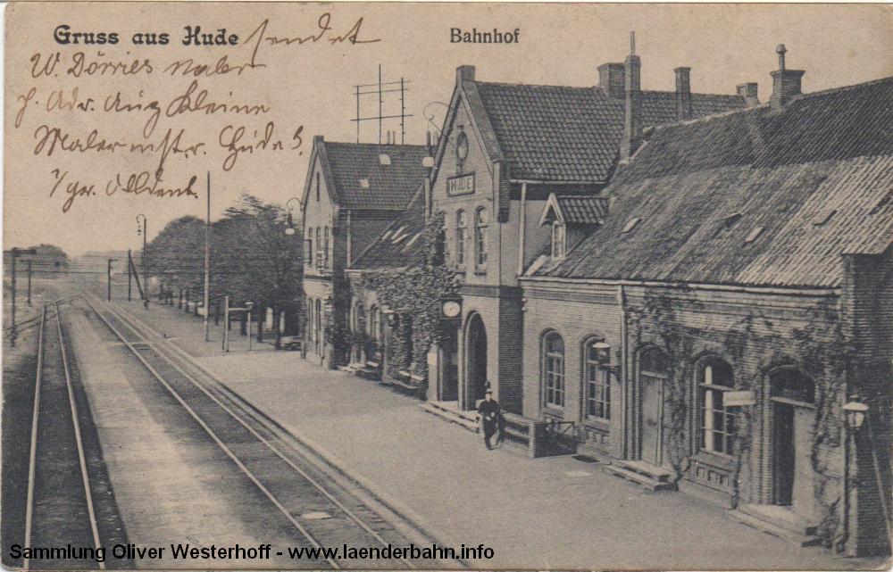 Die Südseite des Bahnhofs auf einer Ansicht von 1908.
