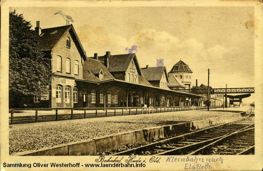 Die Südseite des Bahnhofs, die Karte ist 1926 gelaufen.