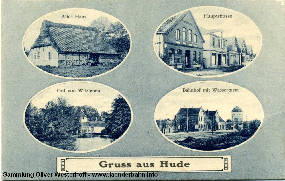 Der Bahnhof auf einer Mehrbildkarte um 1910.