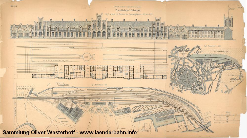Aus der Beschreibung des Bahnhofes von 1883 stammen diese Pläne und Ansichten des Bahnhofs.