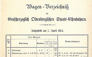 1874 - Wagenverzeichnis der G.O.E.