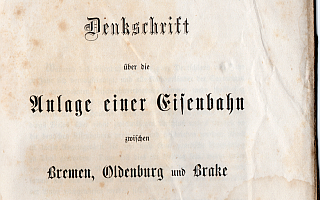 1862 - Denkschrift über die Anlage einer Eisenbahn