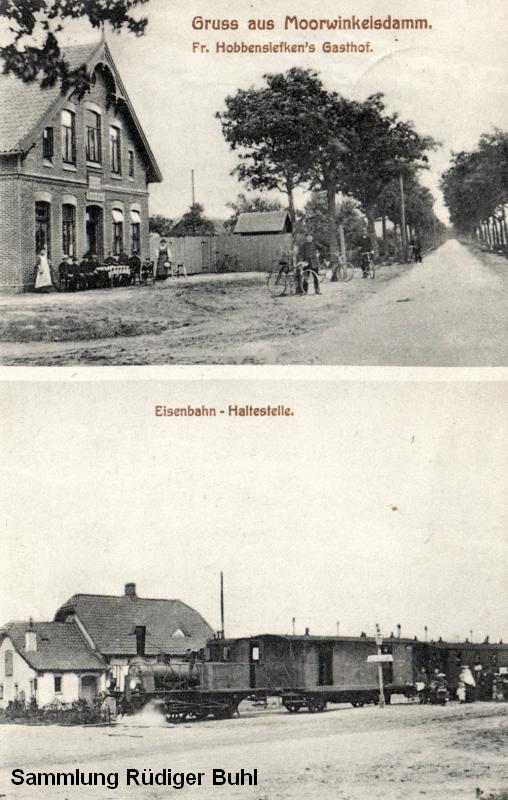 Rüdiger Buhl stellte diese Ansicht vom Bahnhof Moorwinkelsdamm mit einer unbekannten T 1.2 zur Verfügung.