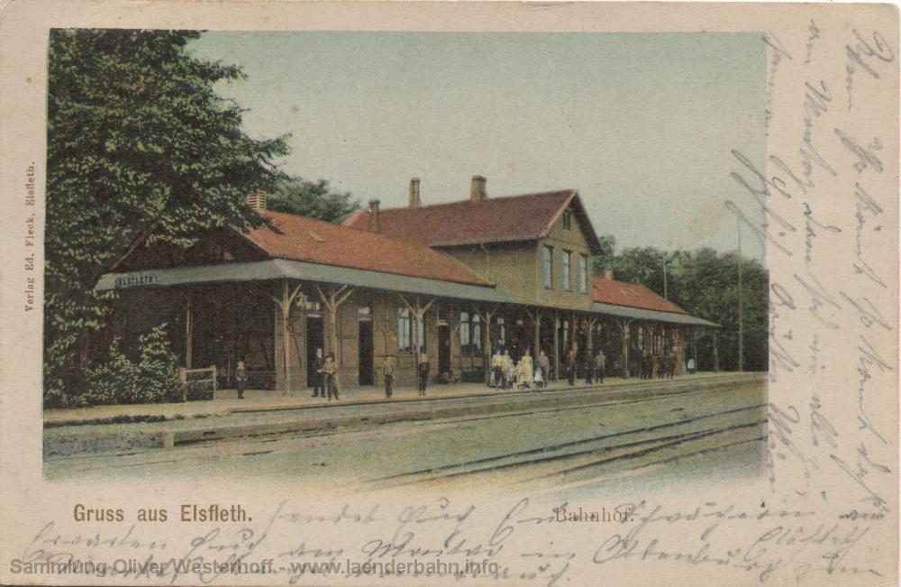 Ansicht von 1903 in Richtung Brake/Nordenham.