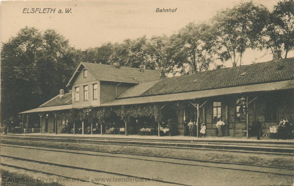 Um 1910 wurde diese Ansicht des Bahnhofs angefertigt.
