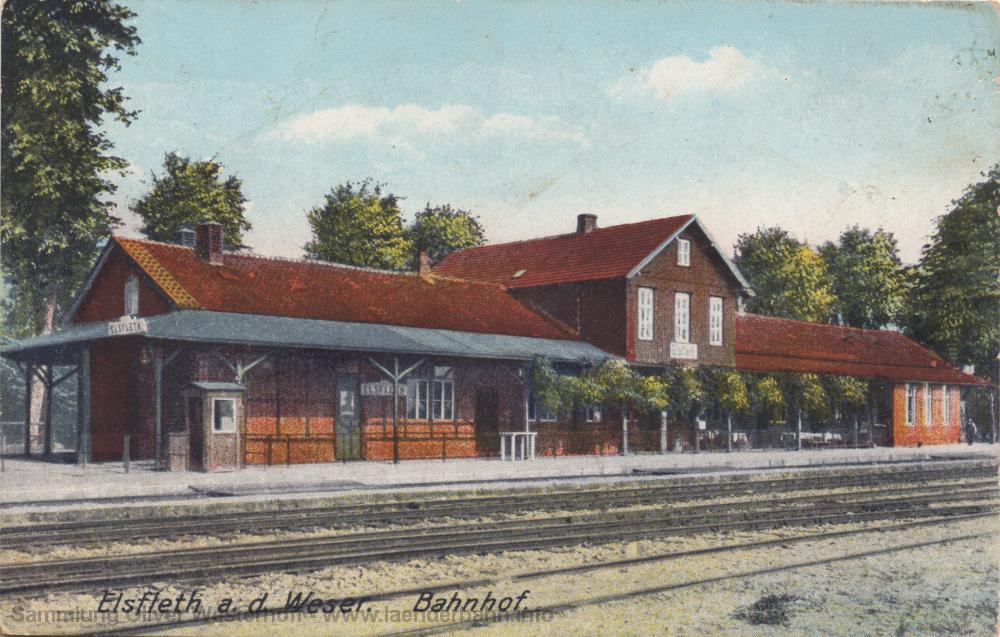 Diese colorierte Ansicht stammt von 1910.