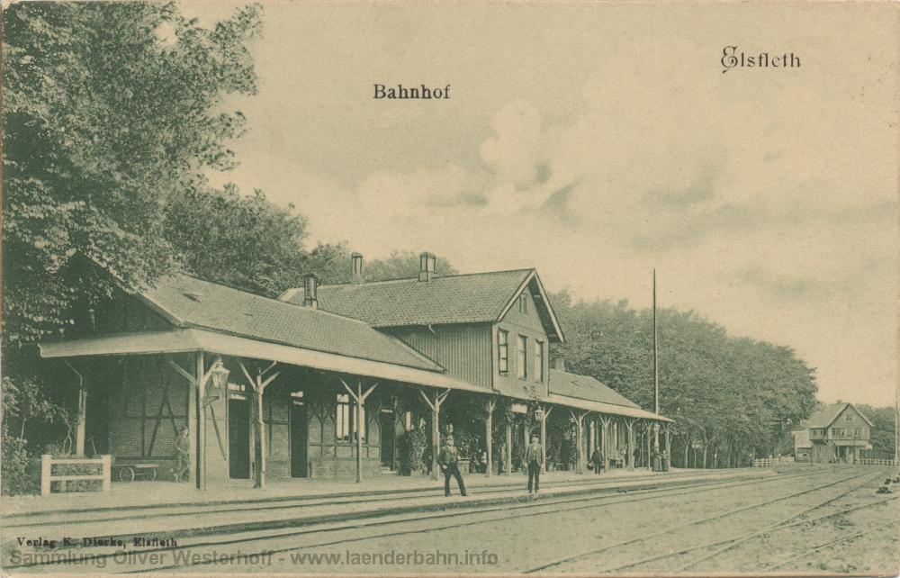 Ansicht des Bahnhofs und der nördlichen Bahnhofsausfahrt.