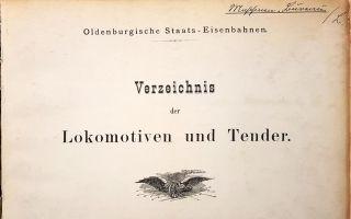 1909 Lokomotiv-Verzeichnis