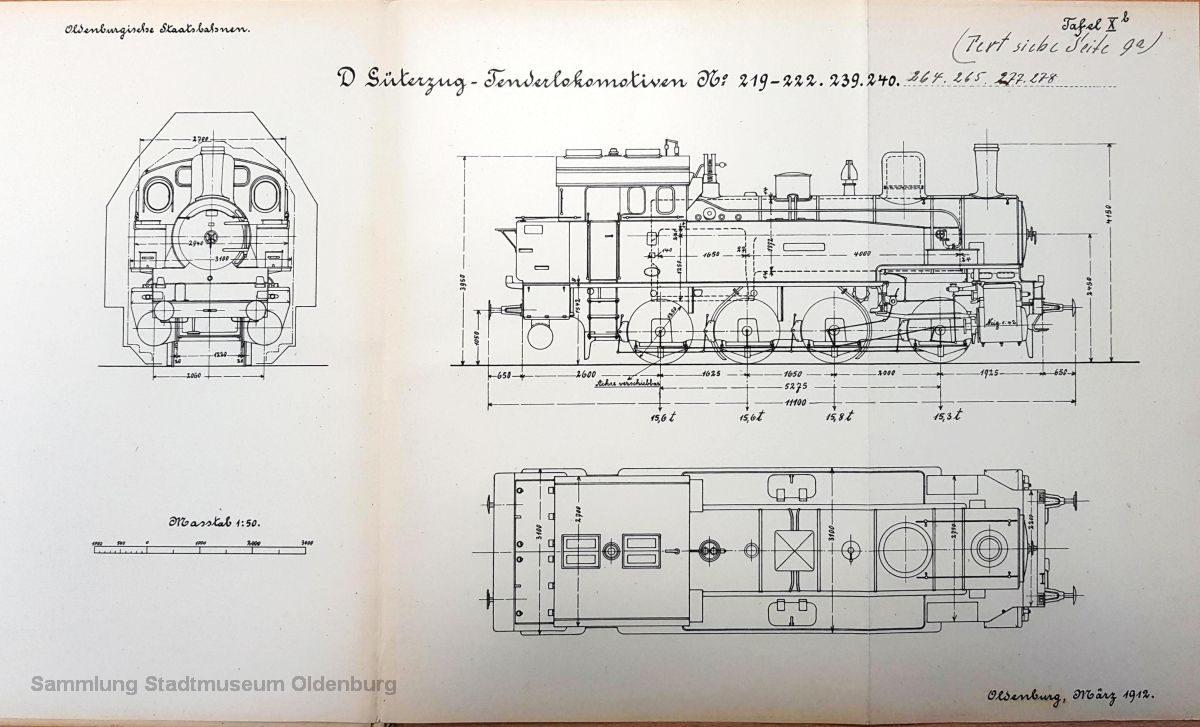 Tafel 10b zeigt die Ansichten der T13