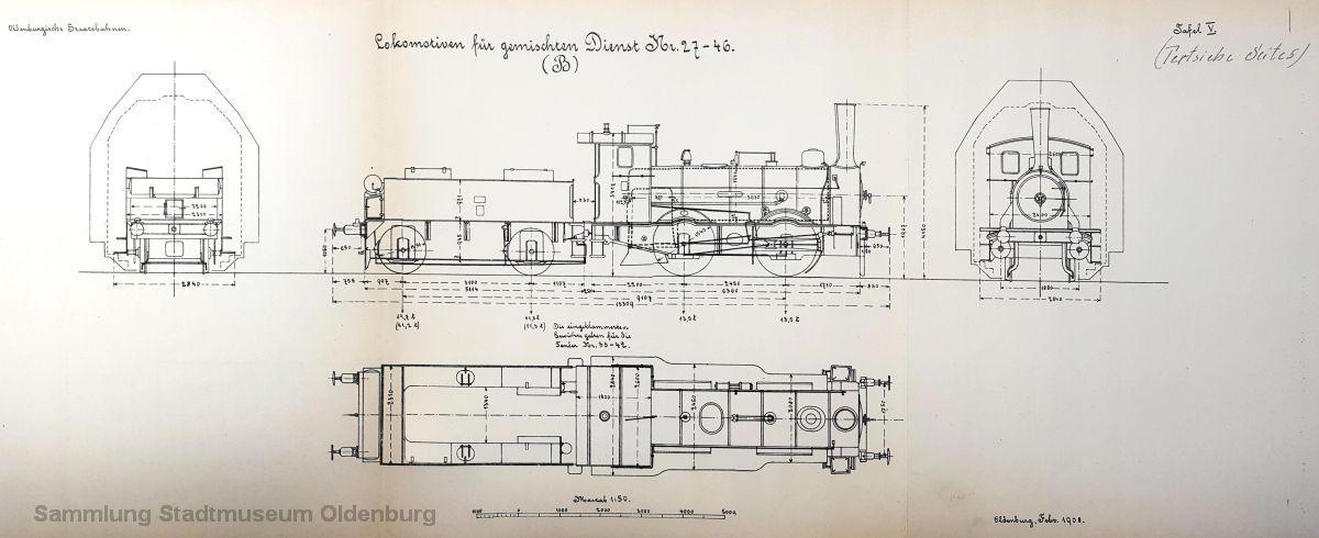 Die gute alte G 1 - zu dieser baureihe gehörten auch die ersten auf oldenburgischen Schienen gelaufenen Lokomotiven - wird auf Tafel 5 gezeigt.
