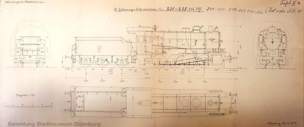 Die Skizzen der G 7 zeigt Tafel 6a