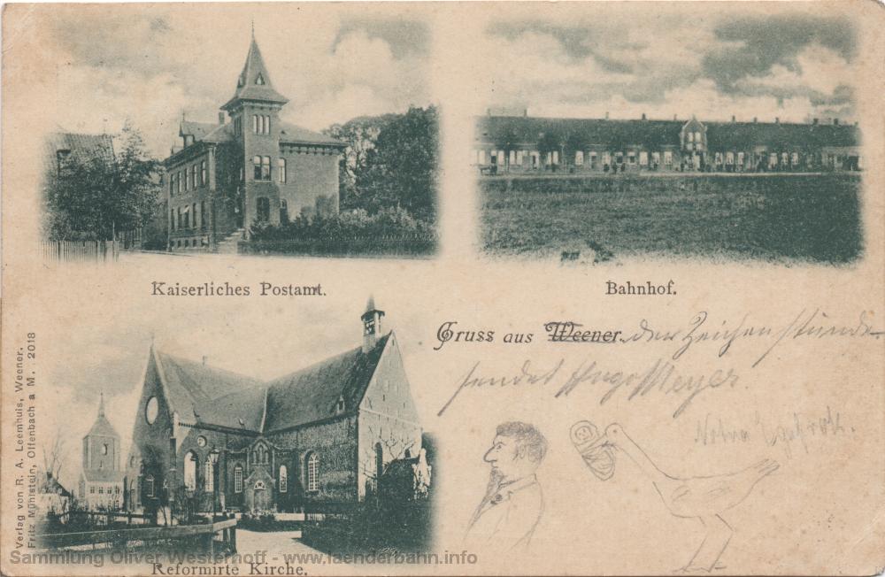 Eine Ansicht auf einer 1904 gelaufenen Ansichtskarte.