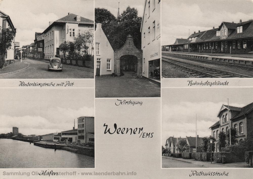 Um 1960 herum ist diese Aufnahme des Bahnhofs entstanden.