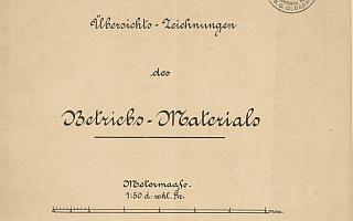 1881 - Übersichts-Zeichnungen des Betriebs-Materials