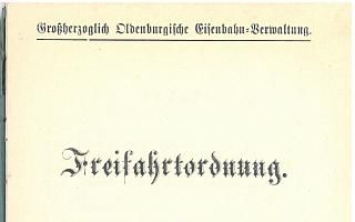 1899 - Freifahrtordnung