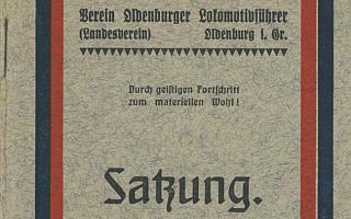1912 - Satzung Verein Oldenburger Lokführer