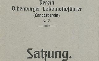 1915 - Satzung Verein Oldenburger Lokführer
