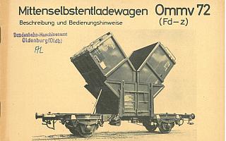 1962 - Ommv 72 Bedienungshinweise