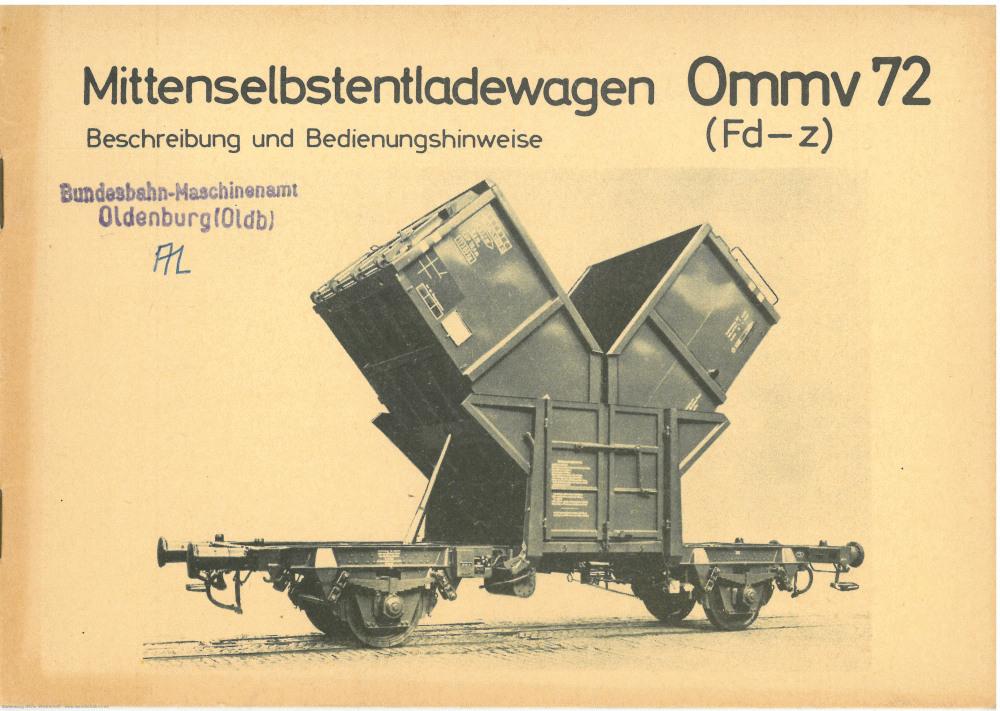 1962 - Ommv 72 Bedienungshinweise - Seite 1