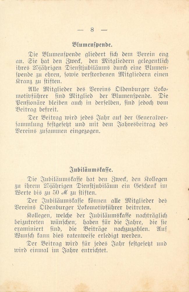 1912 - Satzung Verein Oldenburger Lokführer - Seite 8