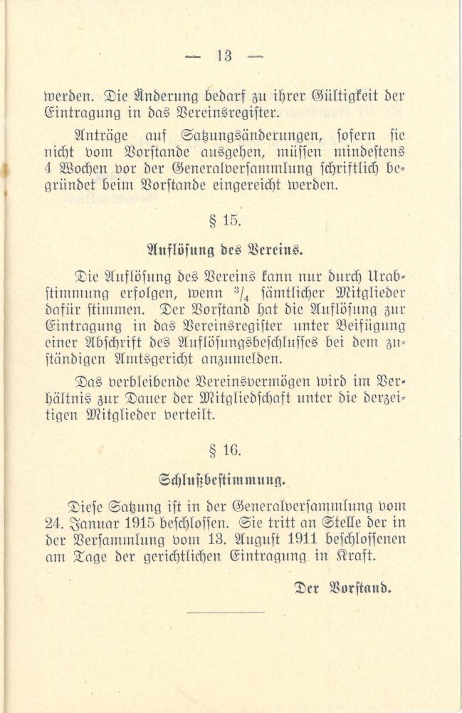 1915 - Satzung Verein Oldenburger Lokführer - Seite 13