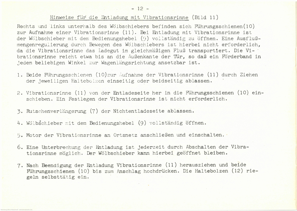 1962 - Ommv 72 Bedienungshinweise - Seite 16