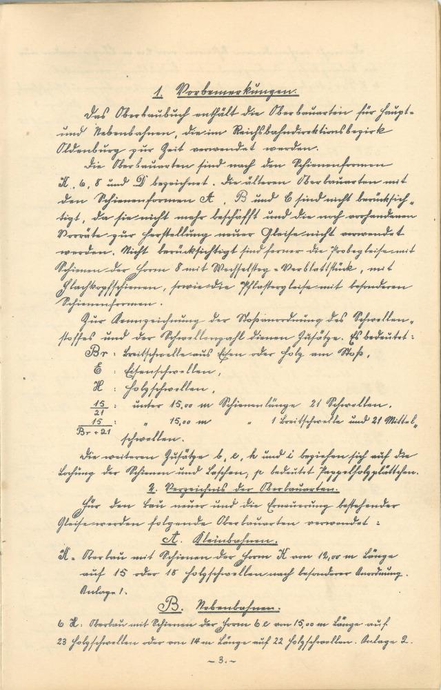 1923 - Oberbaubuch RBD Oldenburg - Seite 3