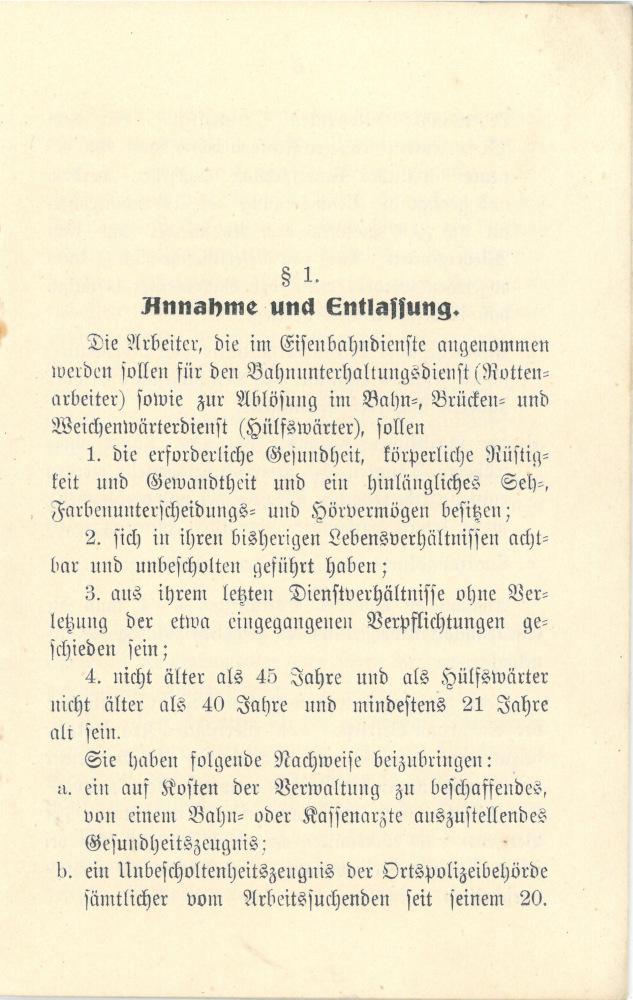1908 - Arbeitsordnung und Lohnregelung für Rottenarbeiter und Hülfswärter - Seite 5