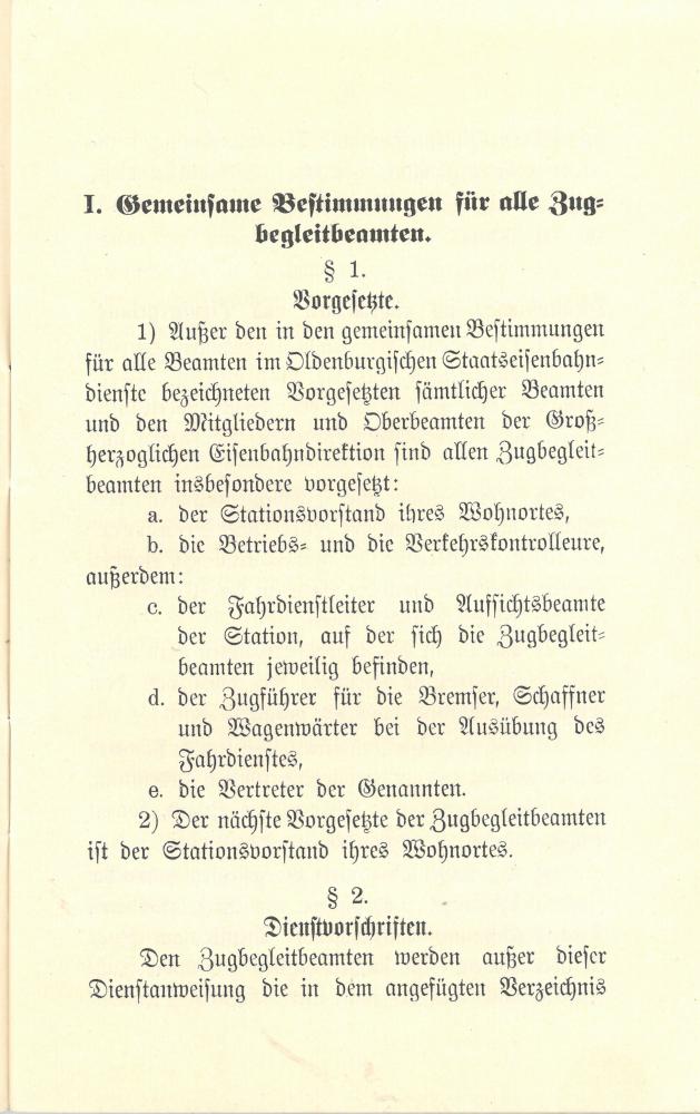 1909 - Dienstanweisung für die Zugbegleitbeamten - Seite 5