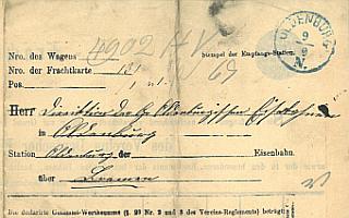 1871 - Frachtbrief
