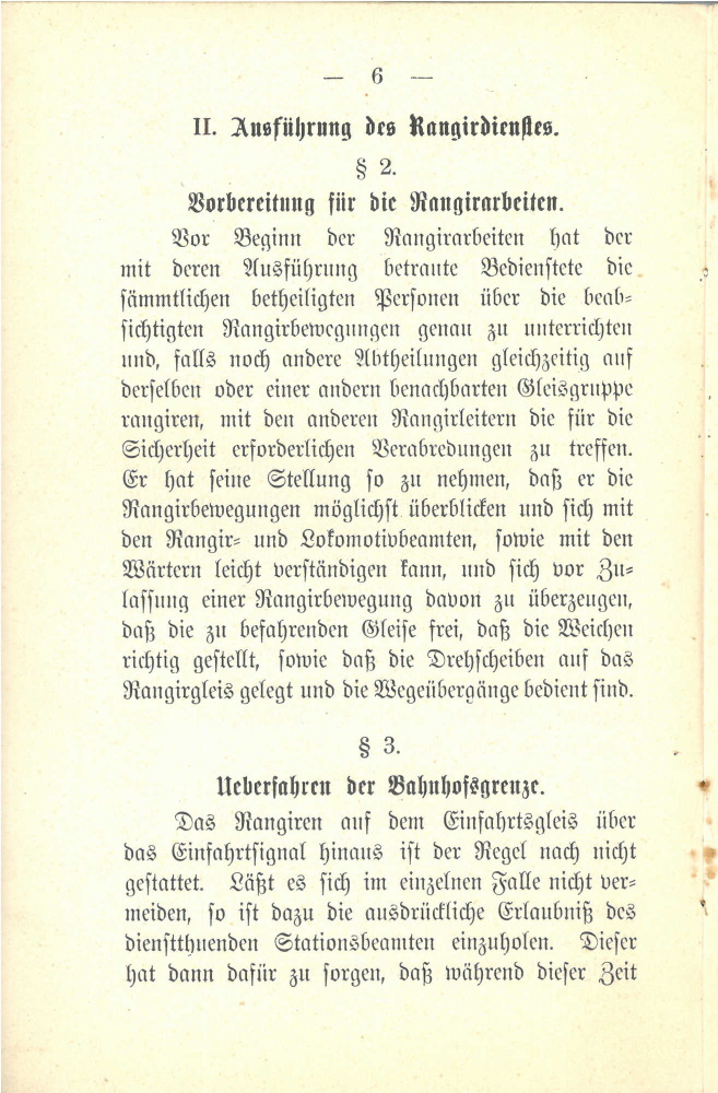 1897 - Vorschriften über den Rangierdienst und die Zusammensetzung der Züge - Seite 6