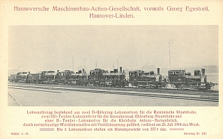 1914 - Lokzug der HANOMAG
