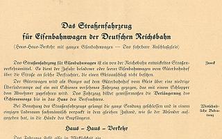 1933 - Das Straßenfahrzeug für Eisenbahnwagen der Deutschen Reichsbahn