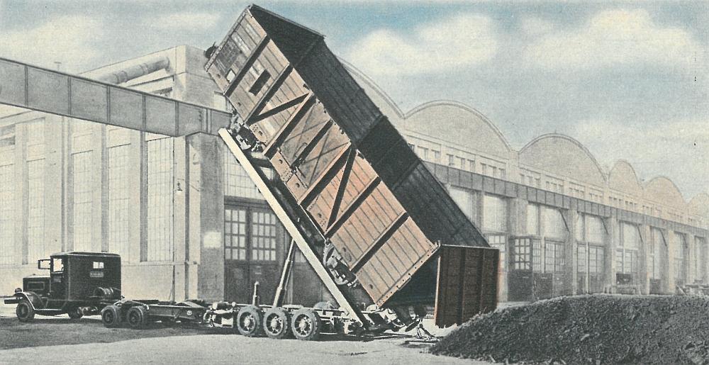 Mit einer Sonderbauart konnten Güterwagen komplett gekippt und so schnell entladen werden